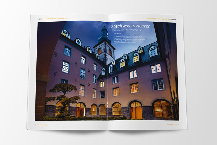 Referenz smart homes - Kloster Luxemburg